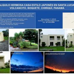 ALQUILO CASA EN SANTA LUCIA - VOLCANCITO - BOQUETE - CHIRIQUÍ - PANAMÁ - ENE 2016 W
